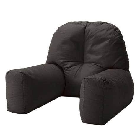 black cotton chloe bed reading pillow bean bag cushion arm backrest  support