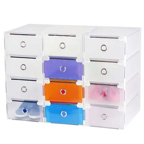 Clear Storage Drawers Stackable by Stackable Clear Plastic Shoe Box Home Storage Boxes Office
