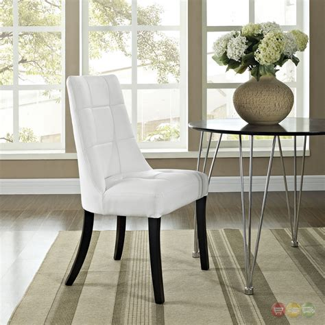 white patterned dining chairs noblesse contemporary dining patterned vinyl side chair white