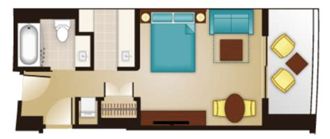 bay lake tower studio floor plan luxury and location the rooms of bay lake tower at