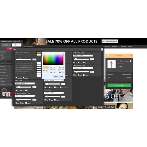 theme maker html advanced theme configurator theme maker prestashop addons