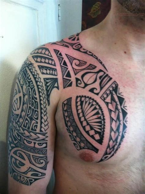 polynesian chest tattoo armor images designs