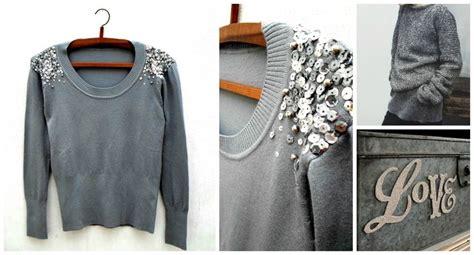 como decorar un jeans con lentejuelas sweater bordado con lentejuelas y perlas platas bleu