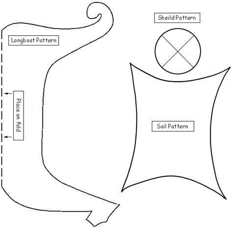 simple boat template viking ship template to make shields to learn about