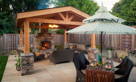 covered concrete patio designs landscaping gardening ideas