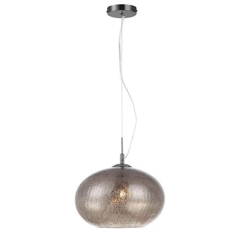 Glass Ceiling Light Glass Pendant Light With Smoke Crackle Effect 1 Light From Litecraft