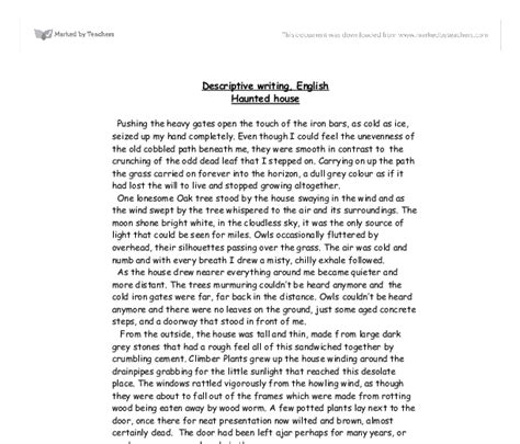 Describe A Place Essay Thesis Exle Of Outline And Structure