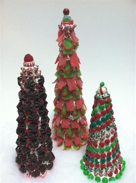 christmas diy candy topiary trees paperblog