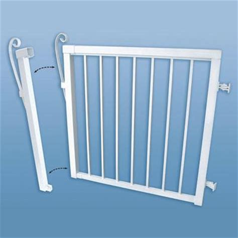 peak gate narrow white 46 inch home depot canada ottawa