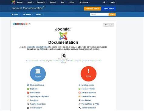 template joomla wiki joomla help menu