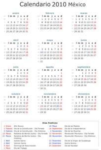 Calendario Mexico Calendario 2010 Mexico