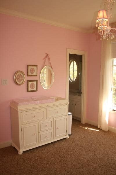 pink wall paint transitional nursery sherwin williams priscilla