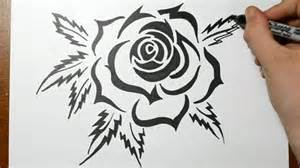 how to draw a tribal rose youtube