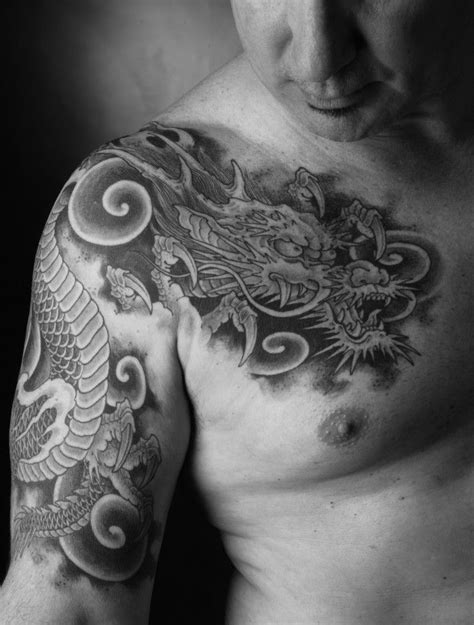 tattoo dragon chris garver pin by mens tattoos on chest tattoos for men pinterest