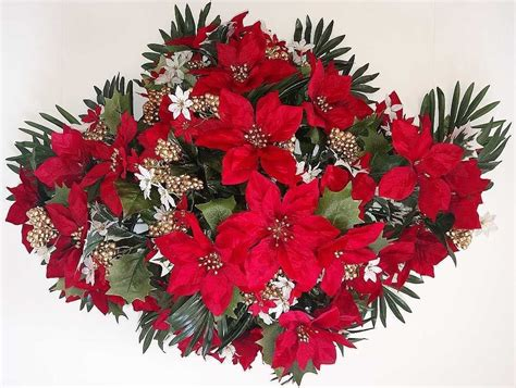 christmas floral arrangements in clever green centerpiece