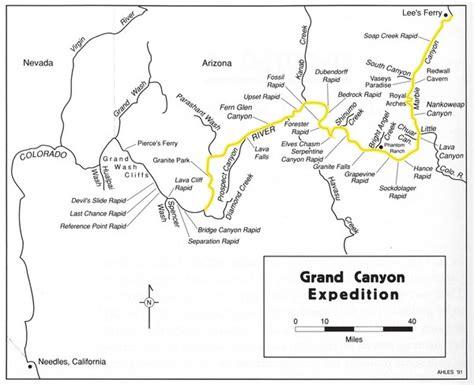 grand map colorado river river map grand