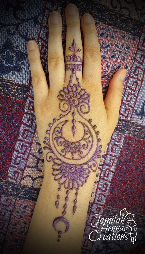 henna tattoo hand bielefeld moon and flower henna bright festival www