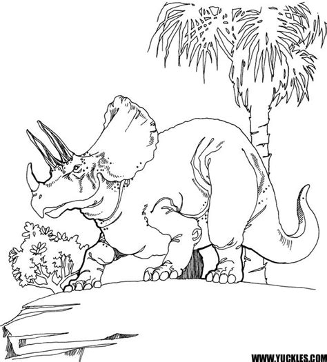 triceratops coloring page by yuckles