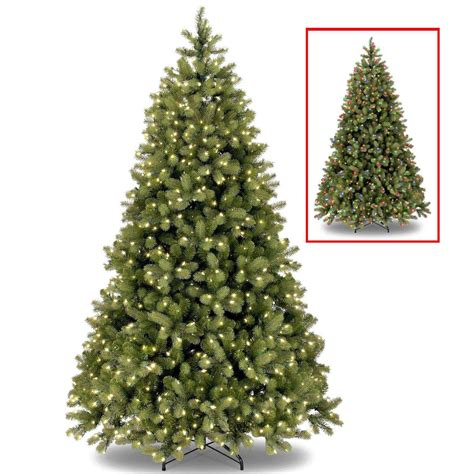 National Tree 6 5ft Bayberry Spruce Feel Real Pre Lit Dual Light Tree