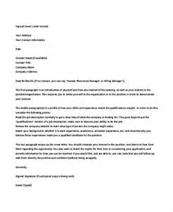 typical cover letter exle typical business letter format pictures to pin on