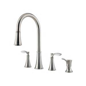 price pfister pull out kitchen faucet pfister petaluma handle widespread kitchen faucet
