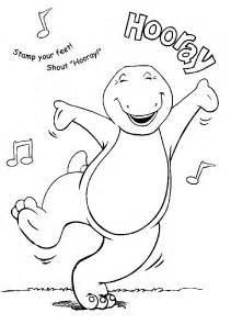 barney coloring pages learn coloring