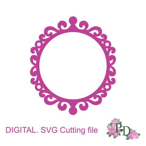 Circle Cutter Pemotong Bulat frame silhouettes svg dxf vector cutting file