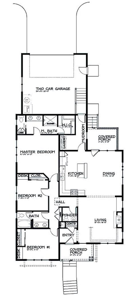 Pin By Des Ohm On Dream House Plans Pinterest Bungalow House Plans With Garage In Back