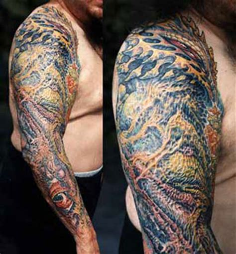 tattoo cover up guy bio mech scar coverup by guy aitchison tattoonow
