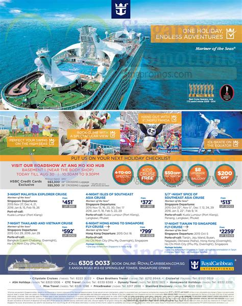 Royal Caribbean Roadshow @ AMK Hub 27 ? 30 Aug 2015