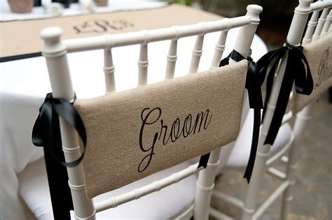 And Groom Chair by Groom Burlap Chair Signs For Farmhouse By