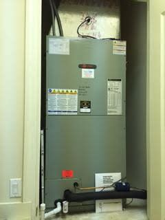 trane air handler  closet installation naples fl