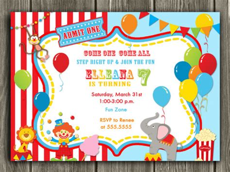Halloween Party Decoration Ideas by Circuscarnival First Birthday Photo Invitation Printable Thank You Card