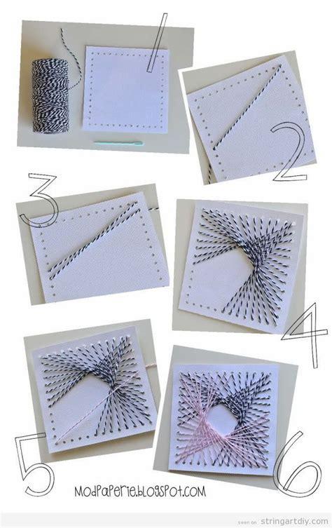 Diy String Patterns - string diy on cardboard tutorial easy step by step on