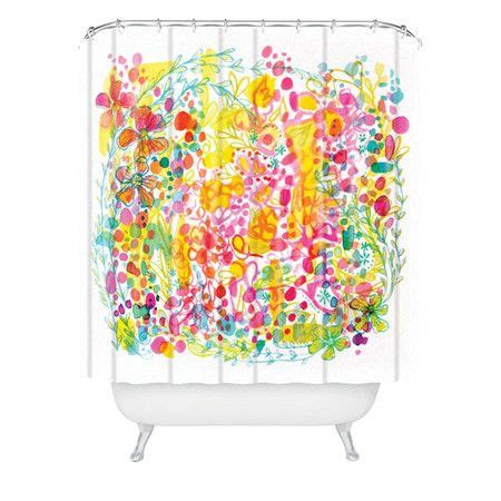 vibrant shower curtains vibrant multicolor shower curtain by stephanie corfee for