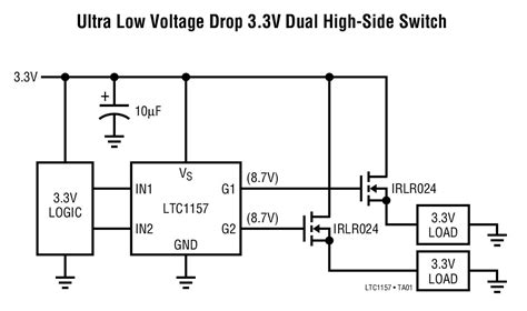 tipe transistor driver ltc1157 typical application reference design mosfet power driver arrow