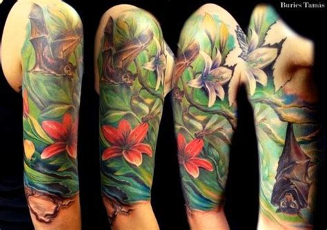 flower vine tattoo sleeve vines bats tattoo google search william morris bats
