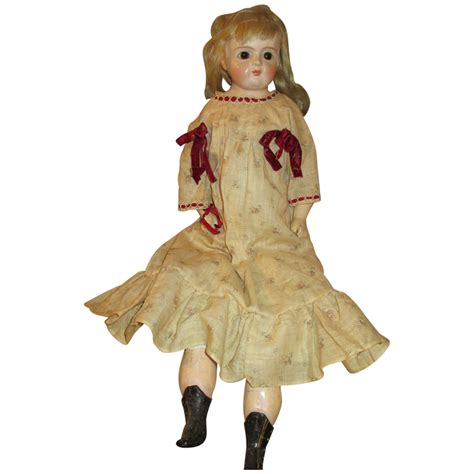 Paper Mache Doll - antique paper mache doll sweet look from