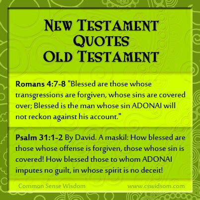 bible tattoo quotes new testament the new testament quoting the old testament part 10