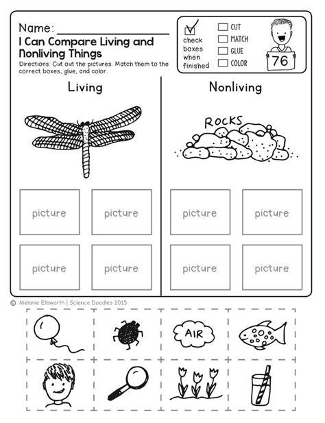 worksheets for kindergarten science life science
