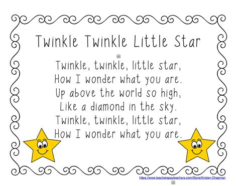 twinkle twinkle little star 0785326936 early childhood scribbles twinkle twinkle little star shared reading