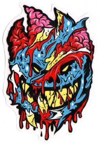 spitfire wheels brainy zombie skateboard sticker