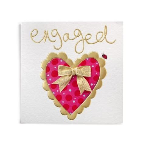 Handmade Cards For Engagement - engaged handmade engagement card 163 3 99 a great range