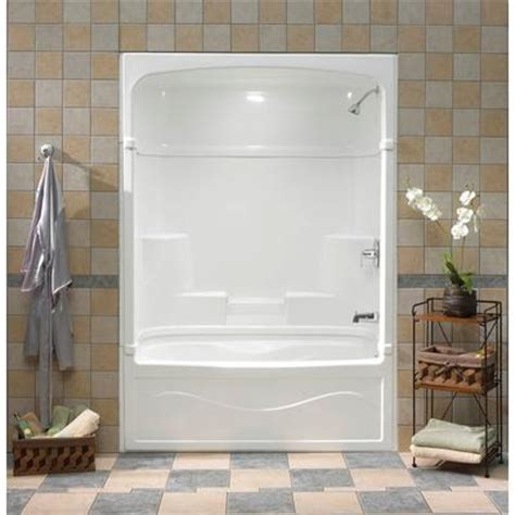 mirolin bathtub mirolin victoria 60 inch 3 piece tub and shower right hand drain home depot canada