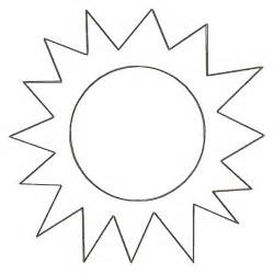 Template Of A Sun sun template sunbeams