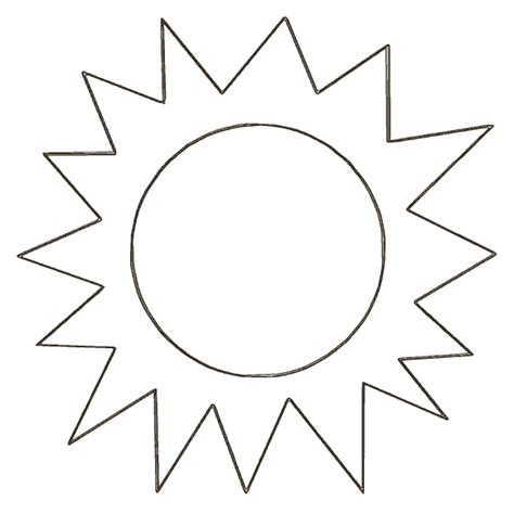 sun template sunbeams pinterest