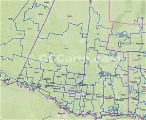 hidalgo county tx zip code boundary map