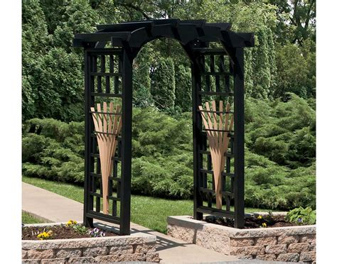 Oak Trellis Poly Lumber Tivoli Arbor