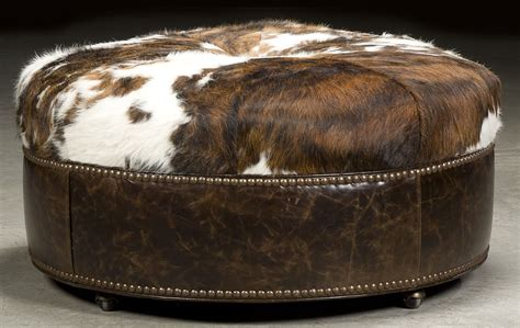 how to cover a round ottoman grand home round hair on hide ottoman