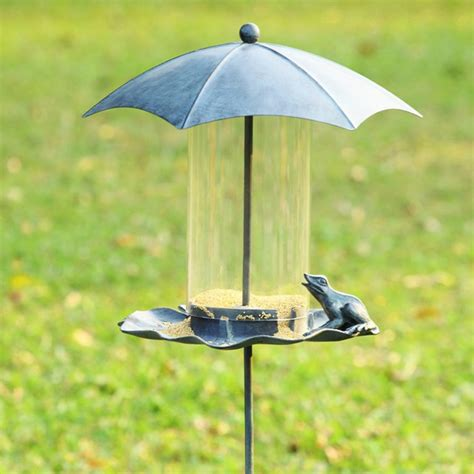 Outside Bird Feeders Frog And Glass Bird Feeder Eclectic Bird Feeders